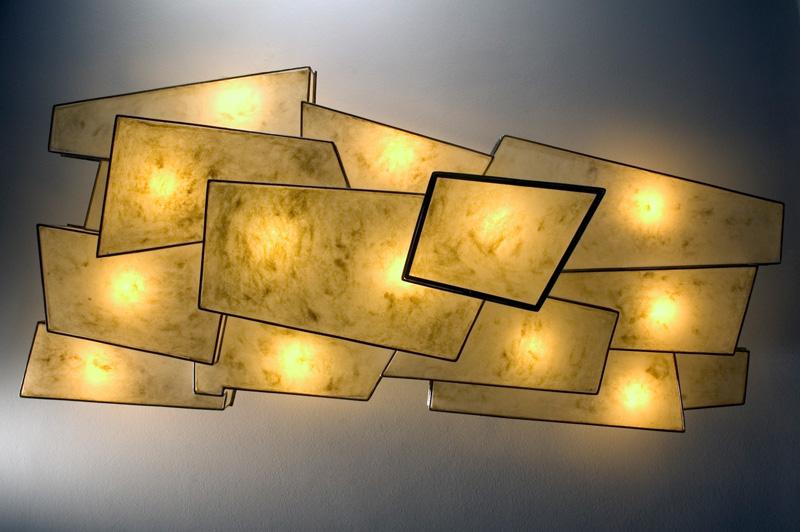 Pile plafonflamp onderaanzicht