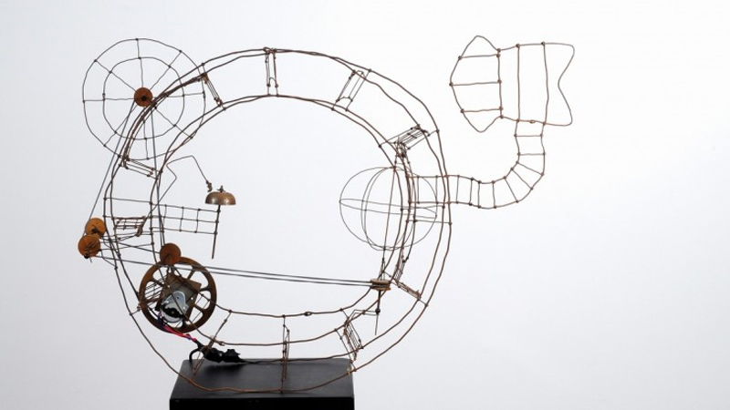 2014 04 08 Steel sculpture in Germany-yesterday and today